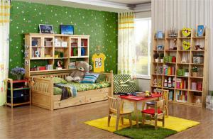 原木家具儿童房布置