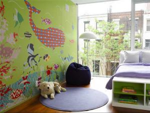 儿童房背景墙壁纸