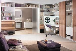 小户型客厅书柜定制设计
