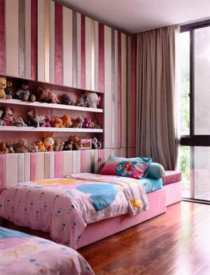 条纹壁纸儿童房设计与装修