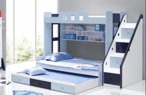 儿童房双层床效果图欣赏