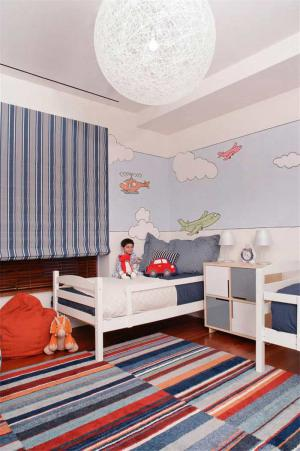 手绘儿童房背景墙