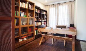 实木小书房书柜