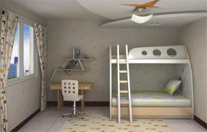 双人儿童房效果图