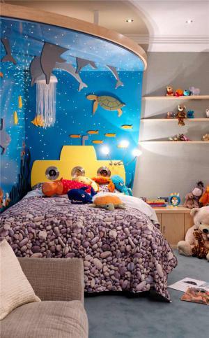 海洋风儿童房定制