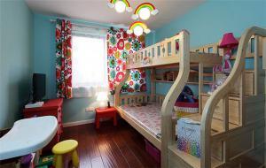 简易儿童房设计上下床