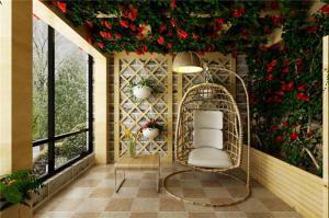 休闲吊椅阳台装饰
