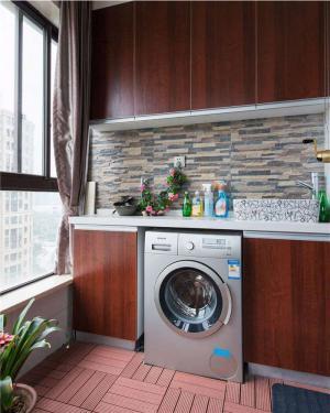 清晰洗衣机放阳台效果图