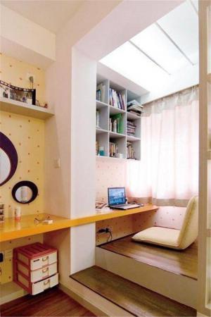 日式小阳台改卧室效果图
