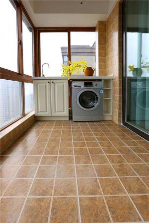 家装阳台洗衣池效果图