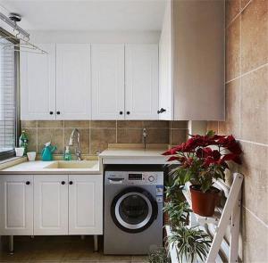 洗衣机放阳台效果图家具设