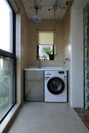 一体式洗衣机放阳台效果图