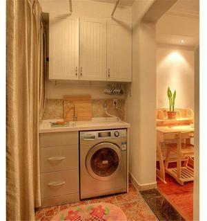 放洗衣机阳台改造效果图