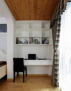 小阳台改书房效果图书柜定
