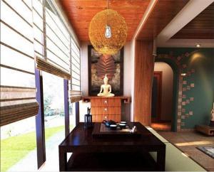 中式风格阳台装饰