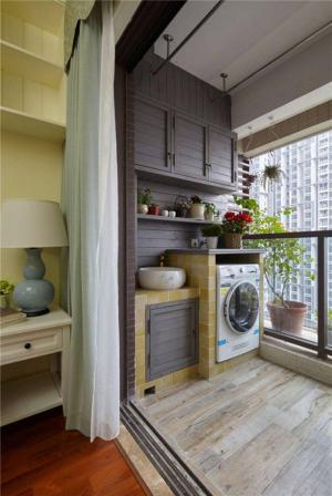家居洗衣机放阳台效果图