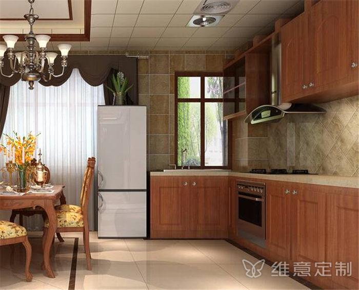 开放式瓷砖厨柜