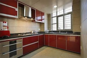 中式不锈钢厨房橱柜