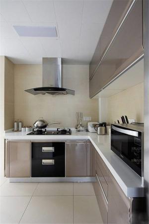 L型不锈钢厨房橱柜