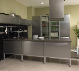 镂空不锈钢厨房橱柜