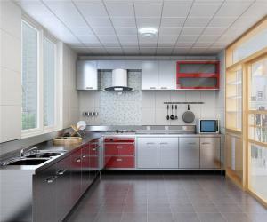 大户型不锈钢厨房橱柜