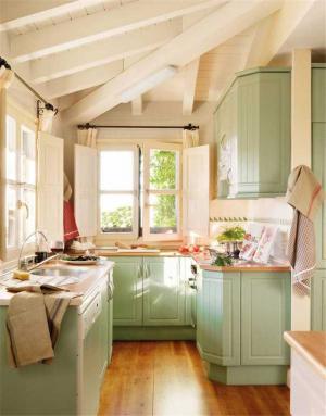 小清新厨房小橱柜