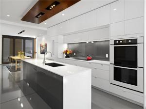 现代风格不锈钢厨房橱柜