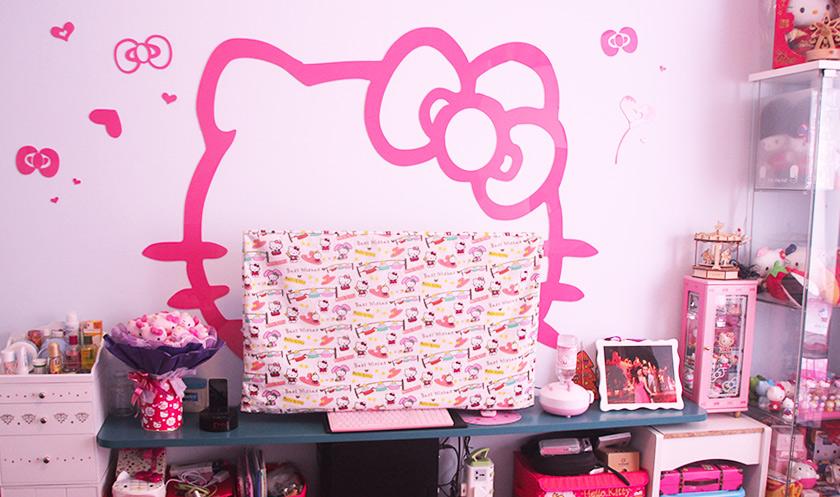 【主�}房�b修案例】家具�@�友b,�p松打造HelloKitty房!