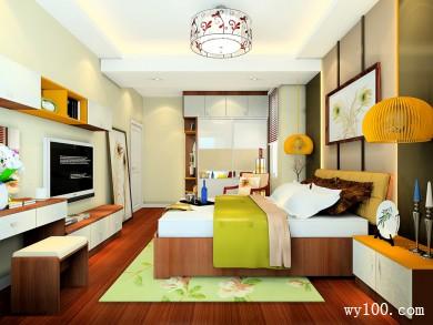 电视柜卧室效果图 19�O在房间看电视也是一种享受 title=