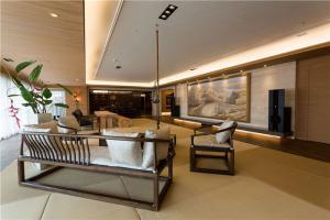 创意新中式客厅电视背景墙