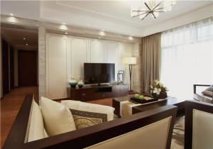 四居室新中式客厅电视背景