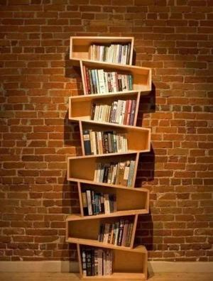 不规则创意书柜