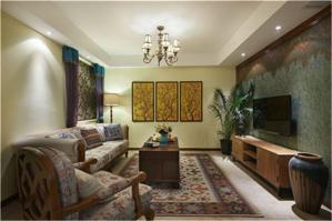 新中式客厅电视背景墙欣赏