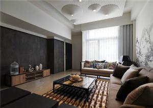 新中式客厅电视背景墙图片