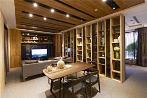 新中式客厅电视背景墙板材