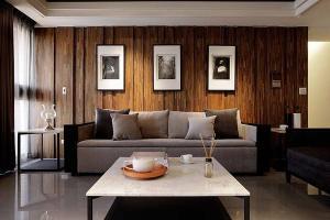 简约安静风格日式背景墙