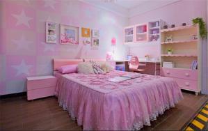 粉色儿童房定制