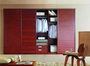简易美式卧室衣柜