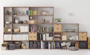 矮书柜与收纳柜组合
