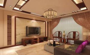 三居室中式背景墙