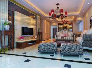 温馨中式电视柜