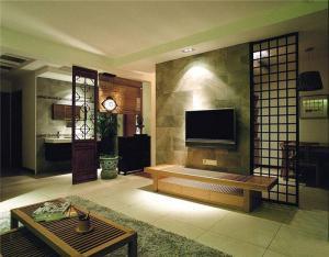 新中式客厅电视背景墙墙壁