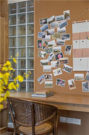 日式背景墙书桌