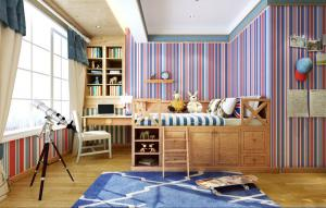 英伦风格小孩书房装修效果