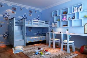 起居室小孩书房装修效果图