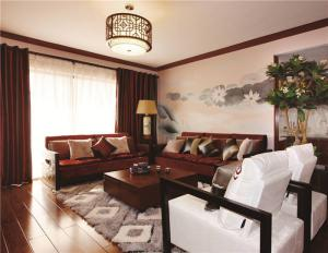 现代客厅布艺沙发图片