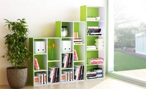 绿色矮书柜