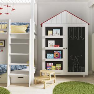 儿童卧室矮书柜