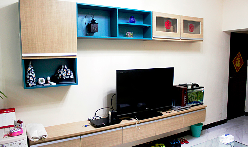【客厅设计】客厅柜子这样装 1�O能当5�O用!